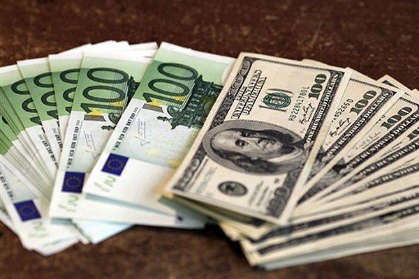 Доллар США иевро упали вцене перед выходными