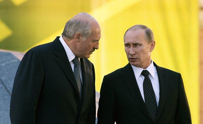 Выступление В.Путина  иЛукашенко наIV консилиуме  регионов